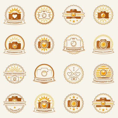 Photography vector labels and badges