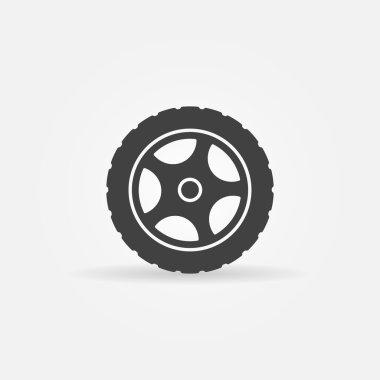 Tire vector icon or logo