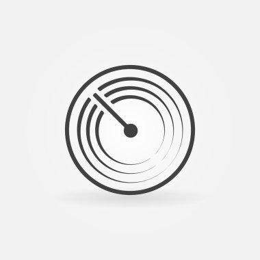 Radar vector simple icon