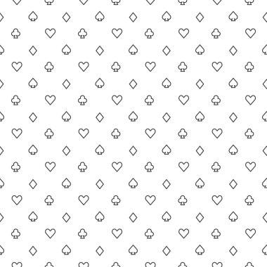 Poker vector seamless pattern