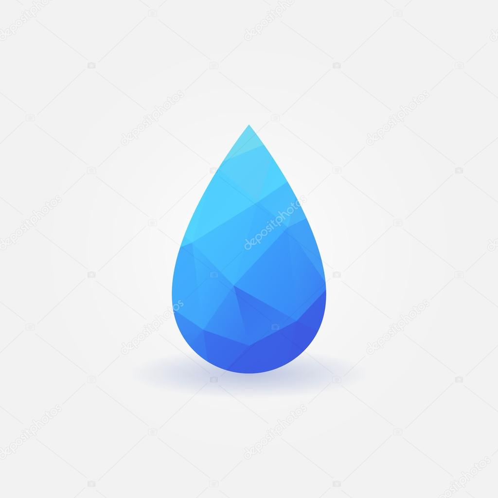 Polygonal water drop logo