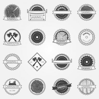 Sawmill labels and badges