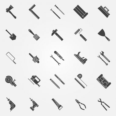 Tools vector icons set