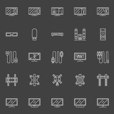 TV line icons