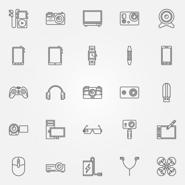 Gadgets and devices icons
