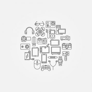 Gadgets vector illustraion