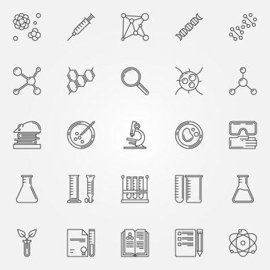 Biotechnology icons set