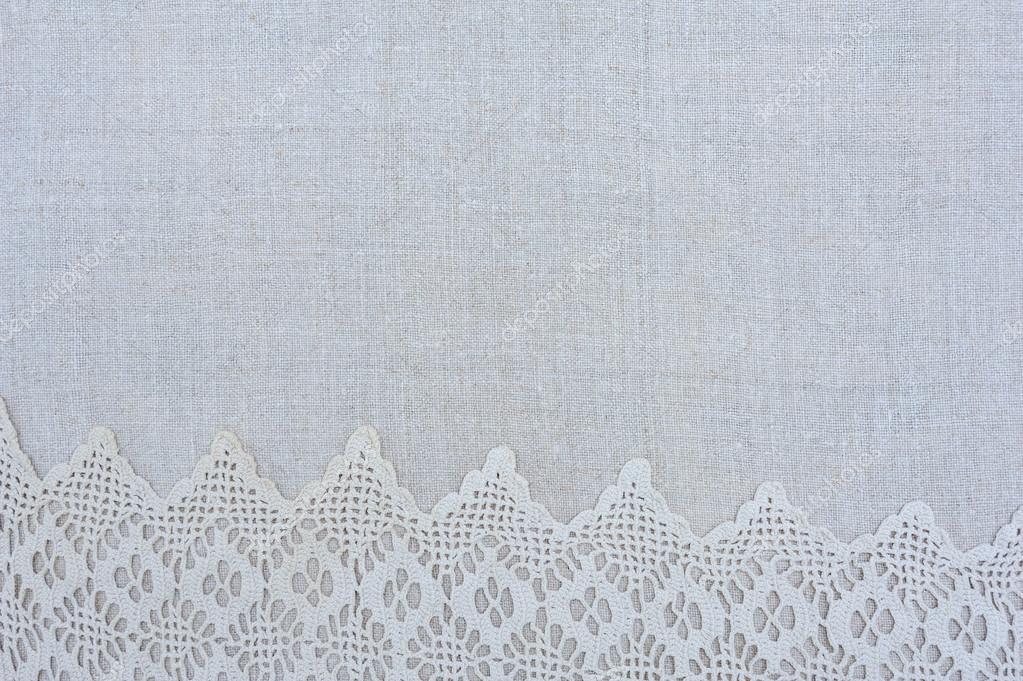 La textura de lino bordado de toallas, marco — Fotos de Stock ...