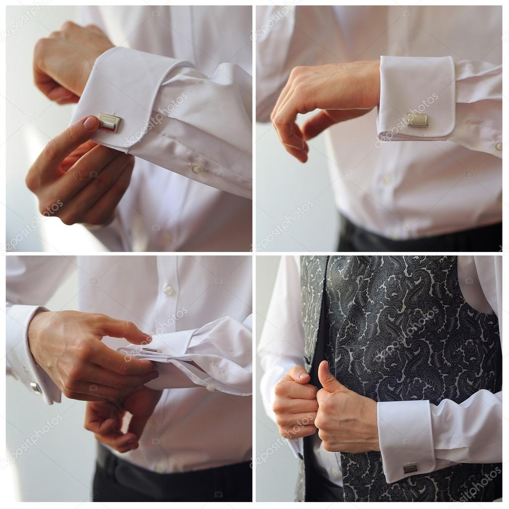 обязать как правильно носить запонки на рубашке фото самые