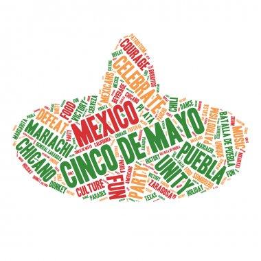 Word Cloud - Cinco de Mayo Celebration, Sombrero