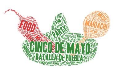 Word Cloud - Cinco de Mayo Celebration, Sombrero, Chili and Ratt