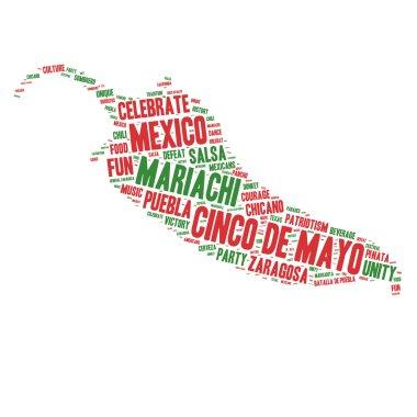 Word Cloud - Cinco de Mayo Celebration - Chili Shape