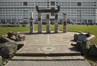 Sculpture Kama river in Perm. Russia