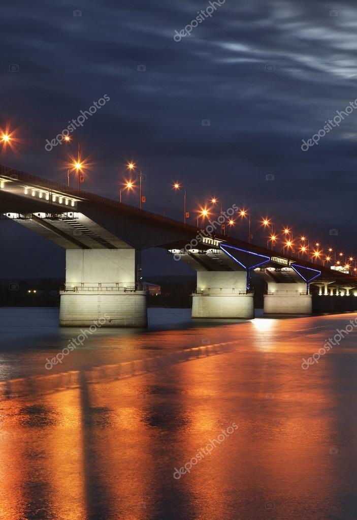 Perm ' でカマ川に架かる橋しま...