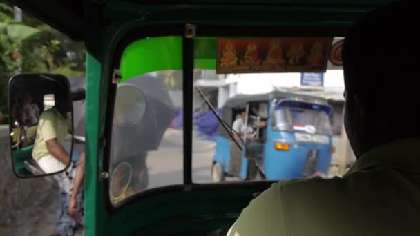 pov Ride in tuk tuk motor taxi point of view, Asia