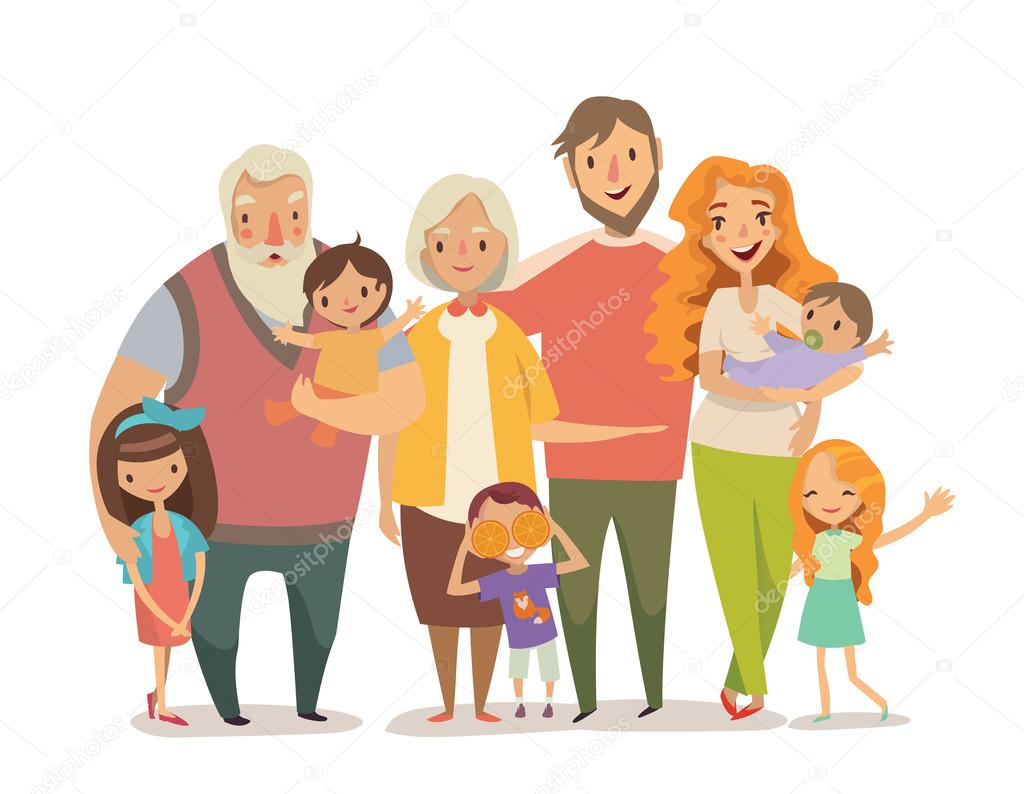 big family portrait mother  father daughter  son  babies father and son clip art free father and son clipart black and white