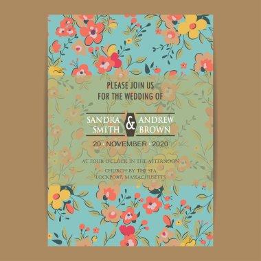 Wedding invitation card or announcement