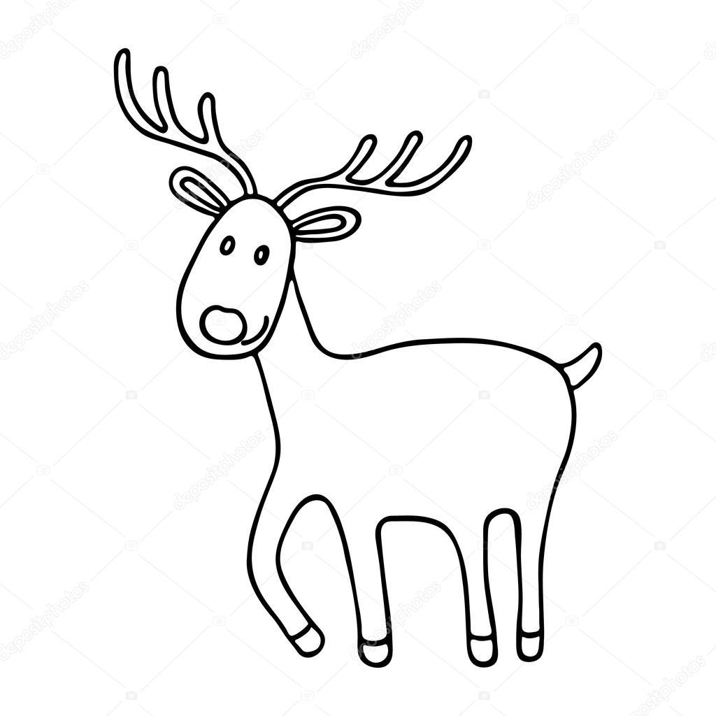 Dibujos Venados Icono De Venados De Dibujos Animados Navidad