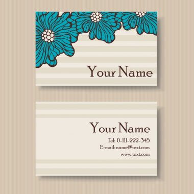 Floral business card design with place for your text.
