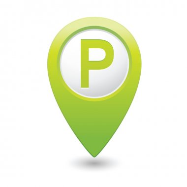 Parking icon on map pointer