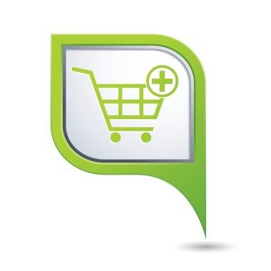 Shopping cart icon. Vector illustration
