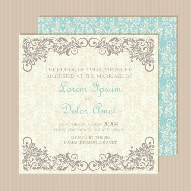 Beautiful wedding invitation card.