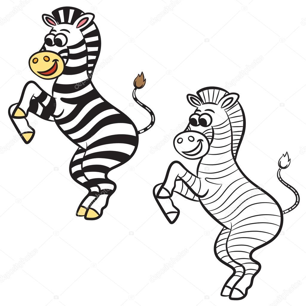 Top çeviren Zebra Boyama Sayfası