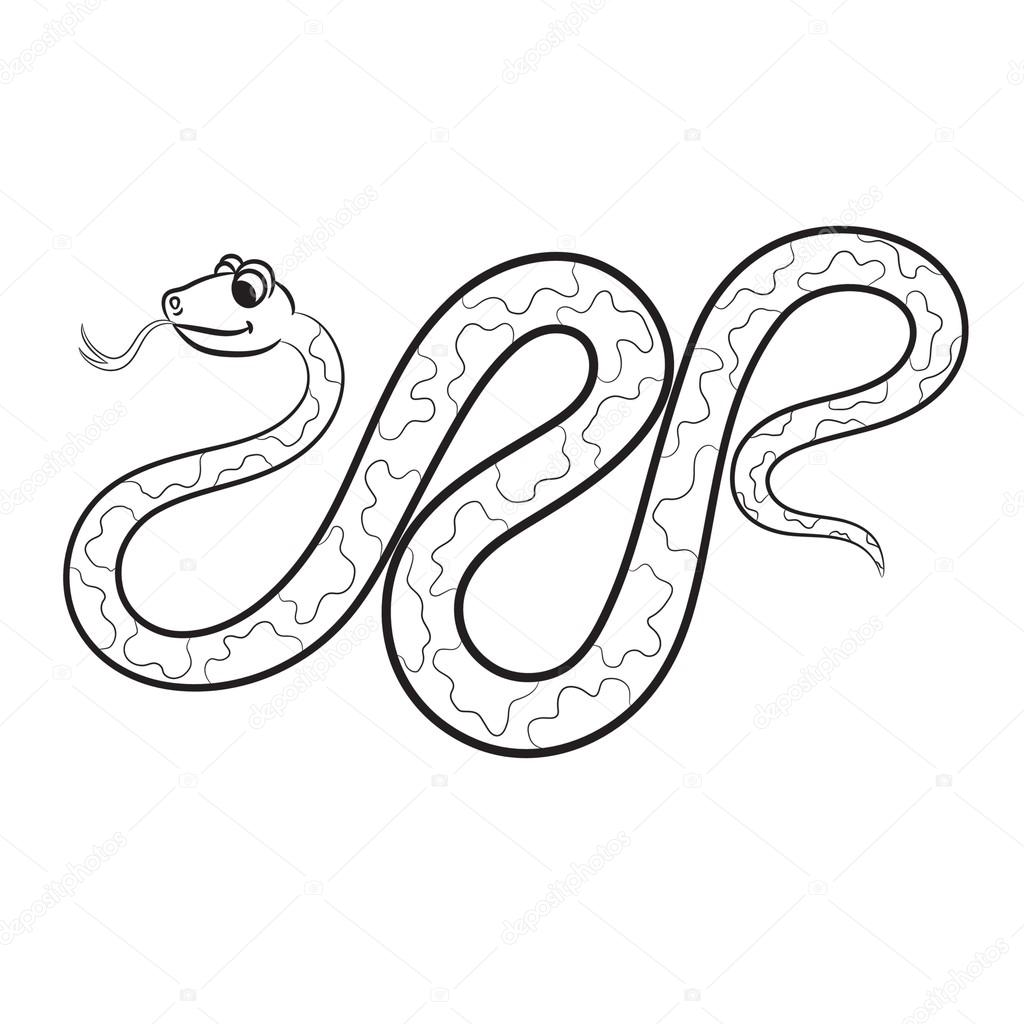 Illustration of snake. Coloring book. — Stock Vector © ARNICA83 ...