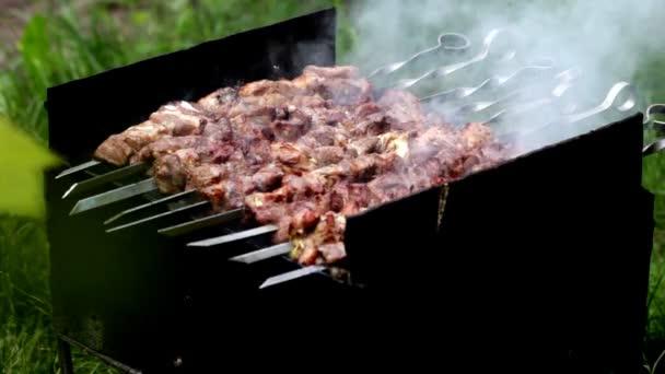 Příprava šíš kebab