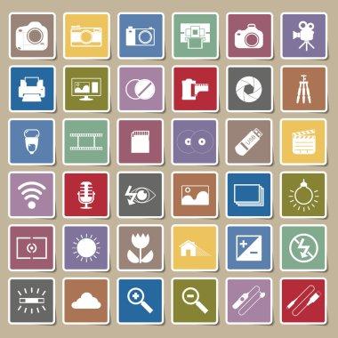 Photography camera icons Sticker
