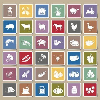 farm icons Sticker Set