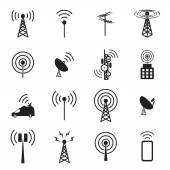 Fotografie Antenne-Icon-set