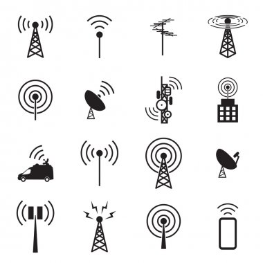 Antenna icon set stock vector