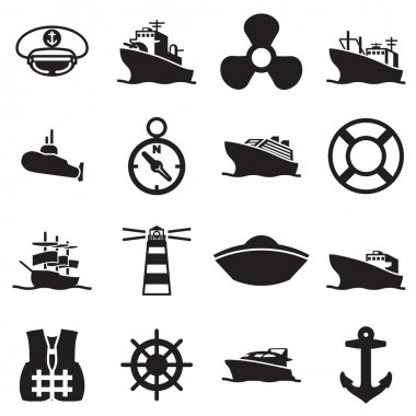 boat and ship symbols and icon