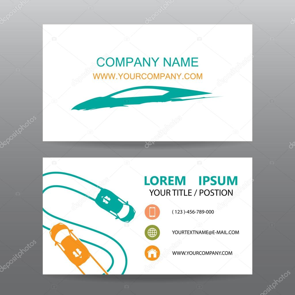Business card vector background,car salesman — Stock Vector ...