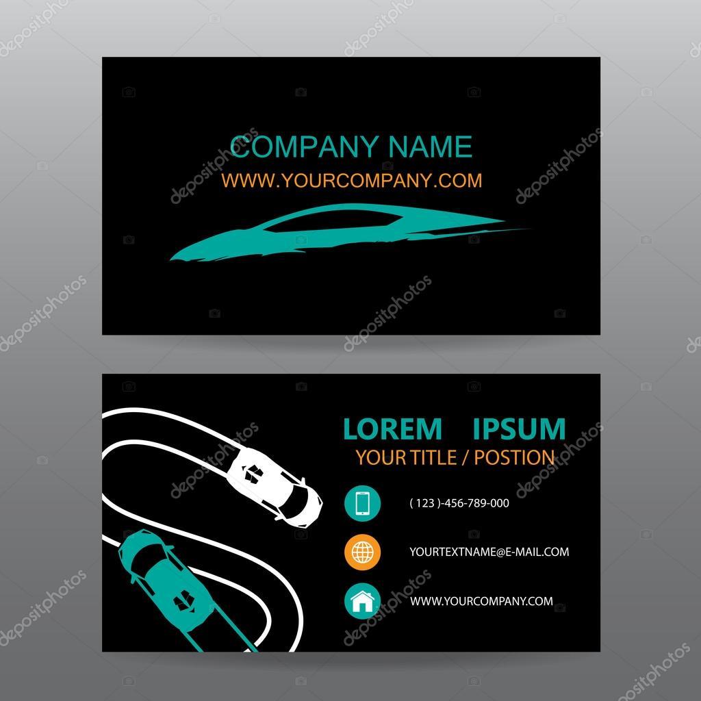Business card vector background,car salesman — Stock Vector ...