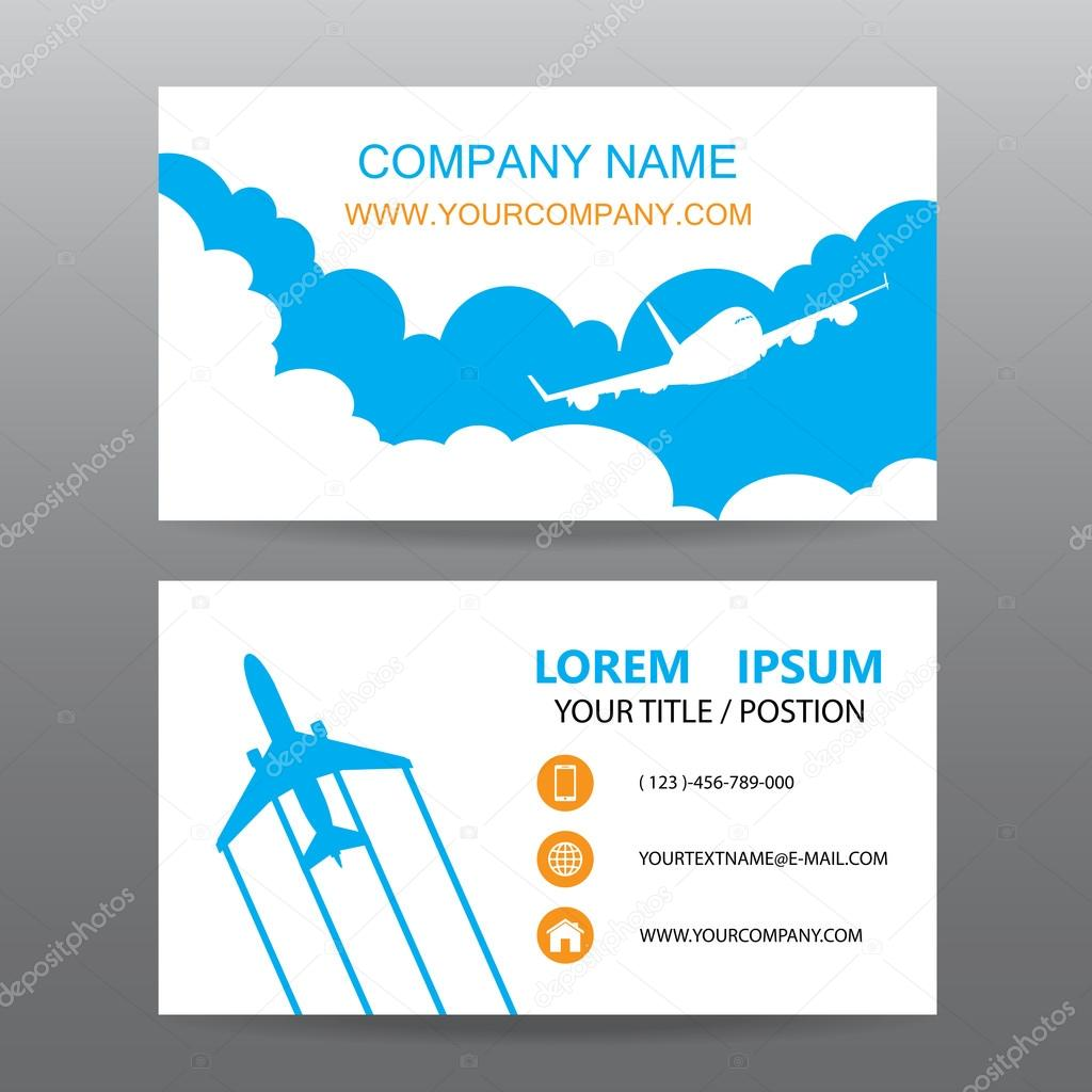 Business card vector background, guide tour companies — Stock ...
