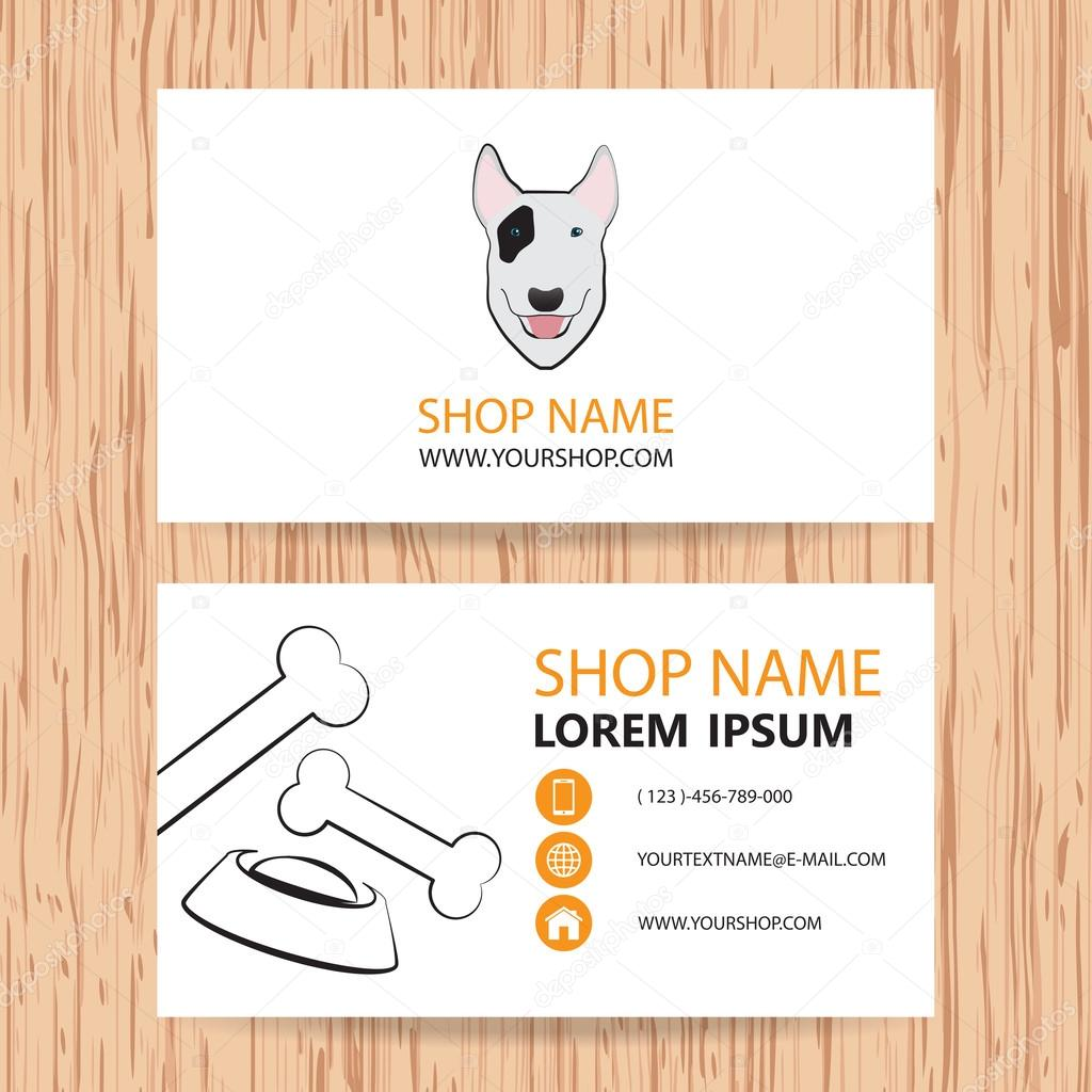 Business card vector background, Veterinary,shop animal feed — Stock ...