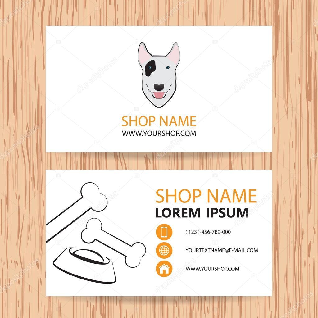 Business card vector background veterinaryshop animal feed stock business card vector background veterinaryshop animal feed stock vector colourmoves