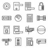 Zámky dveří sady ikon