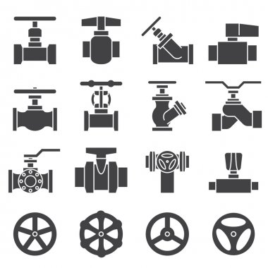 Valve and Taps icon set