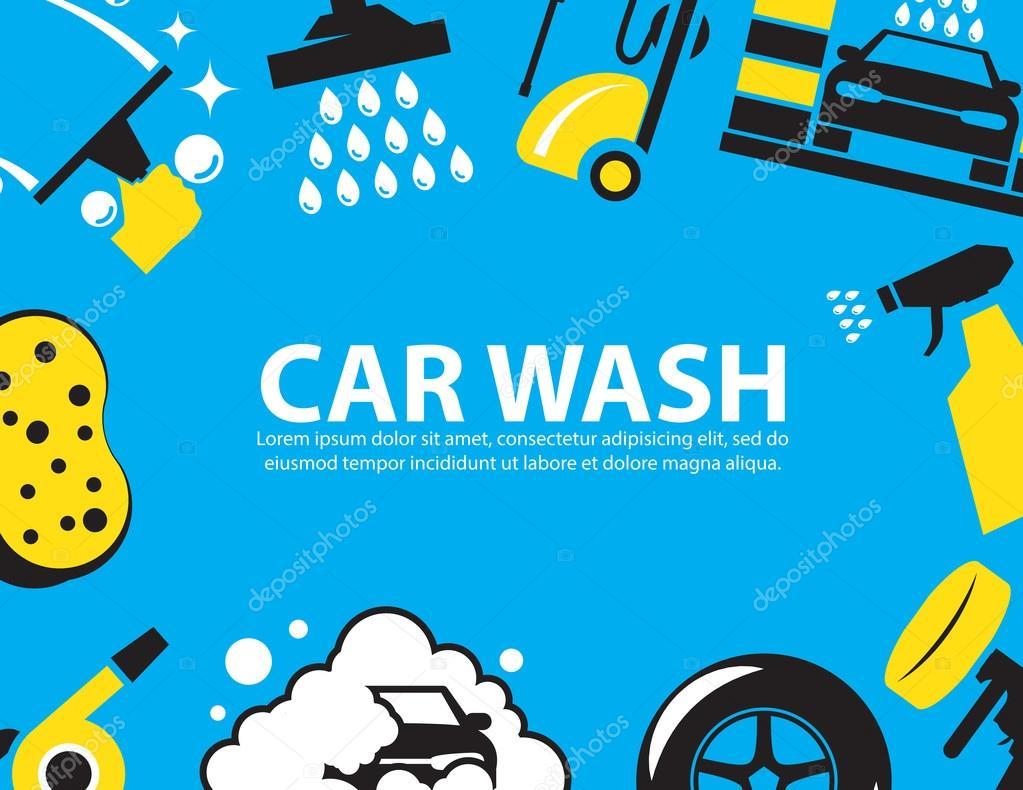 Car Wash Background Stock Vector C Bitontawan02 79652450