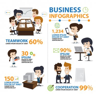 Infographic Office and Business, Lifestyle vector