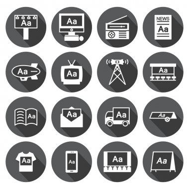 Advertising icon  Set,circular Labels