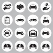 Fotografia Auto vendita e noleggio di set di icone auto