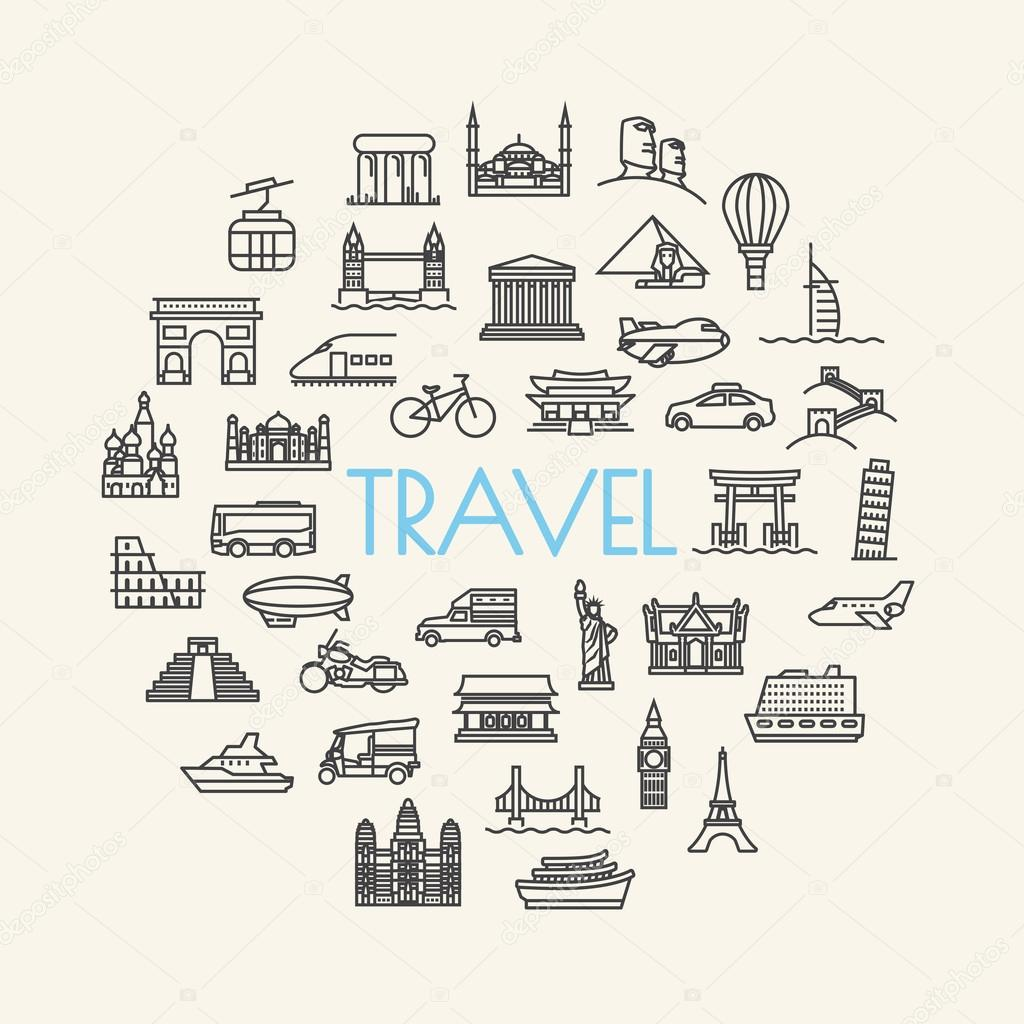 background travel, vacation, famous places Transportation and Ve