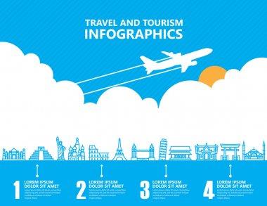 Travel infographics ,landmark and transport