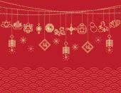 Fotografie Chinese New Year Hintergrund, Karte Drucken