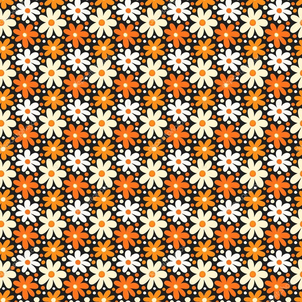 seamless pattern with decorative daisy flowers stock vector