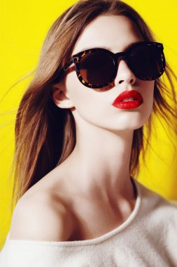 Beautiful girl in sunglasses